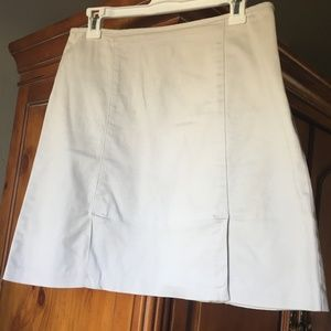 Ann Taylor Stretchy Pale Gray-ish Career Skirt